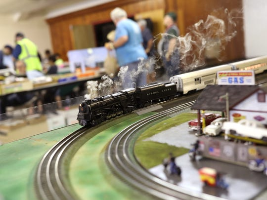 An early 1950's era Lionel Lines engine billows smoke as it rolls through the Tallahassee Model Railroad Show and Sale at the North Florida Fairgrounds at last year's show. Check out the trains this weekend from 9 a.m. to 4 p.m. Saturday.