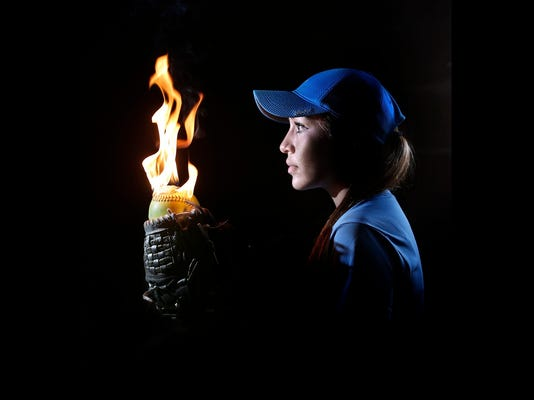 MARK LAMBIEÑEL PASO TIMES  Chapin standout pitcher Danielle Salas is lighting up batters this season.