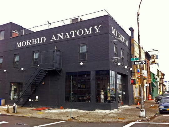 The exterior of the Morbid Anatomy Museum in the Gowanus