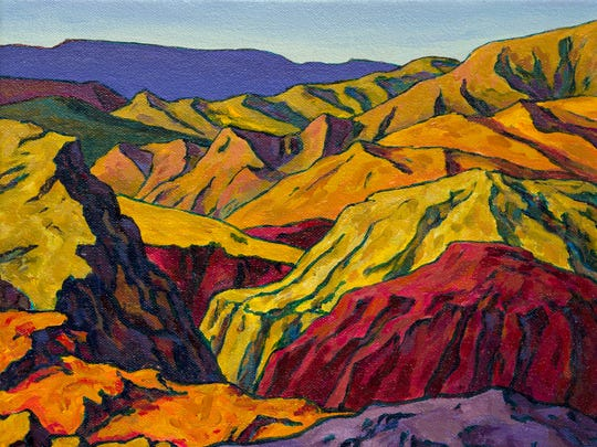 """Although he didn't move to Southern Utah until 2000, Royden Card spent much of his traveling through the desert to acquire inspiration for paintings like """"Deep in the Canyons."""""""