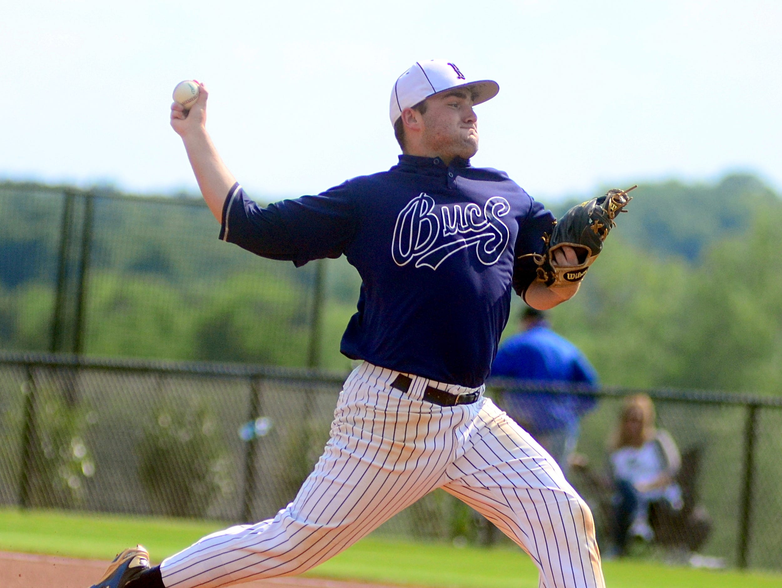 Beech High senior starting pitcher Dalton Hall struck out seven hitters in a complete-game, four-hit shutout in Friday afternoon's 4-0 victory over Lebanon.