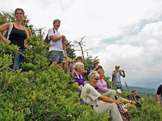 Each museum RIM hike explores a different section of the 31-mile long Swannanoa Rim.