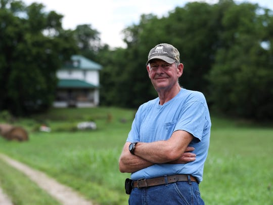 Rollin Bach of Milltown, Ind. has lost three Hereford