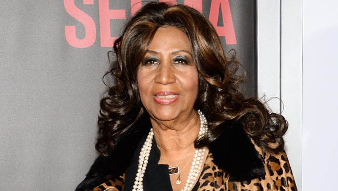 "Aretha Franklin attends the premiere of ""Selma"" in New York in 2014."