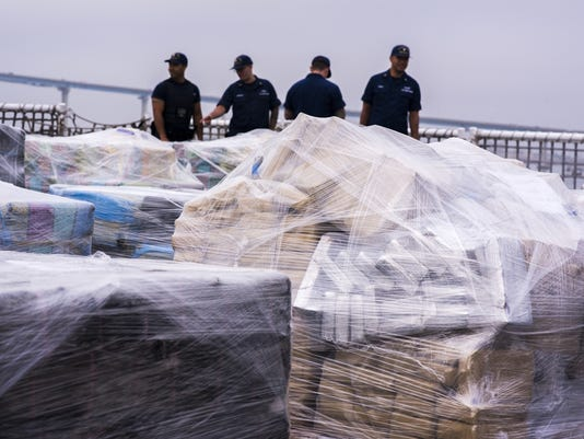 Coast Guard offloads approximately 18 tons of cocaine from Eastern Pacific interdictions in San Diego
