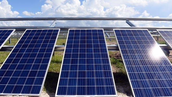 Florida Power & Light Company solar panels are shown in this file photo.