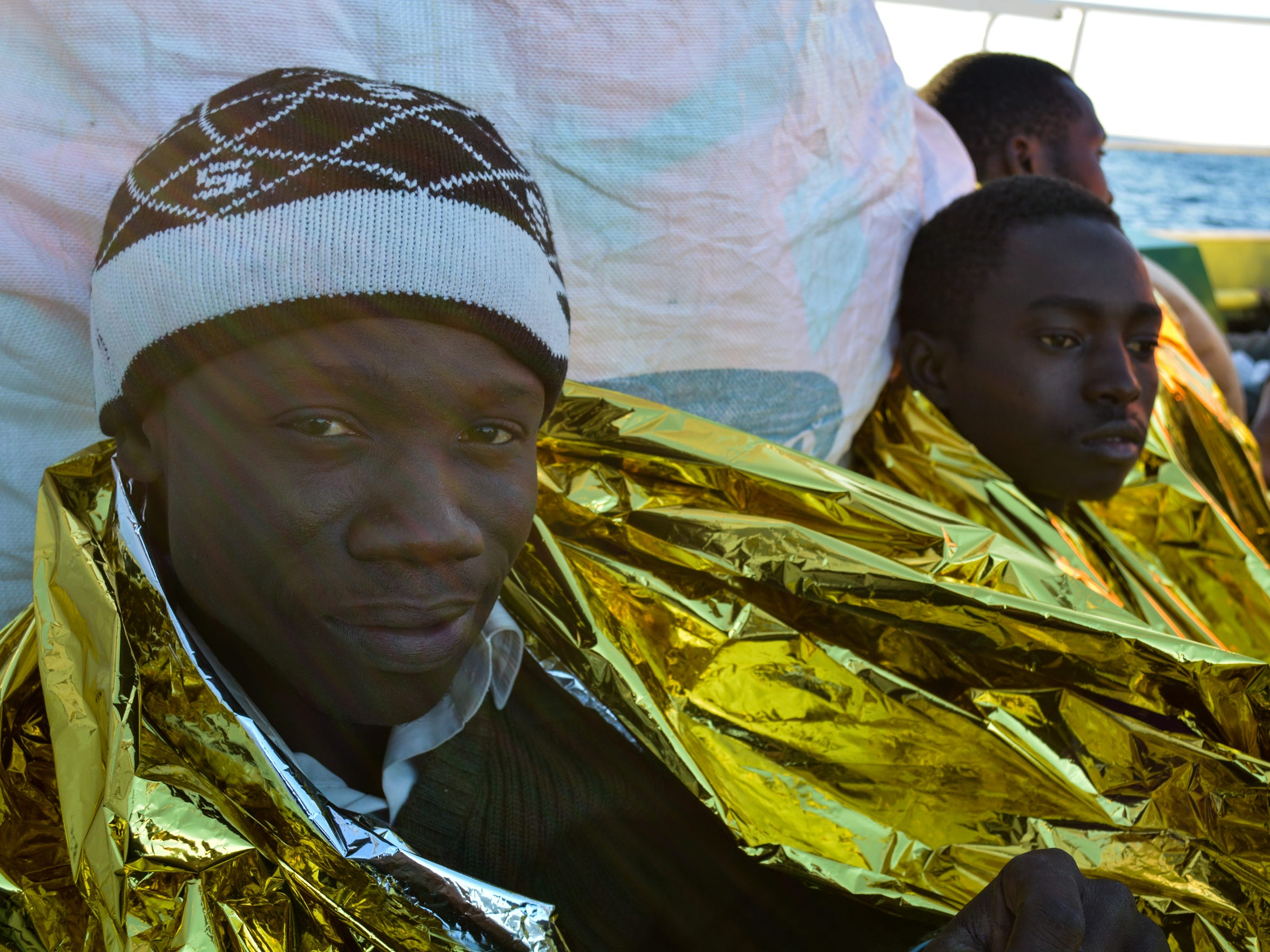 The sun shines on Sali Baldel, 19, from Senegal, just
