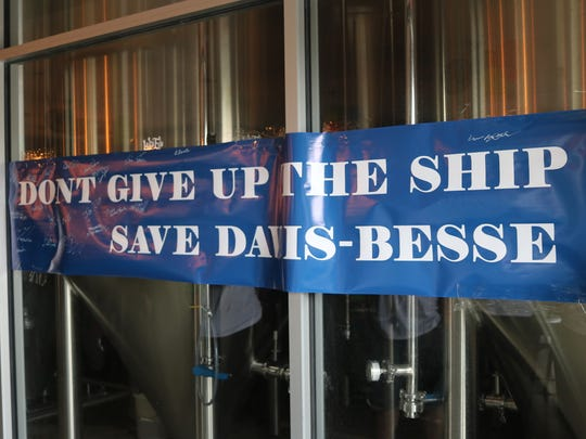 Generation Atomic's 'Save Davis-Besse Party' borrowed a local favorite historical rallying cry, 'Don't give up the ship.'