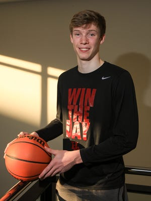 Hunterdon Central's Tucker Richardson is the Courier News Boys Basketball Player of the Year.