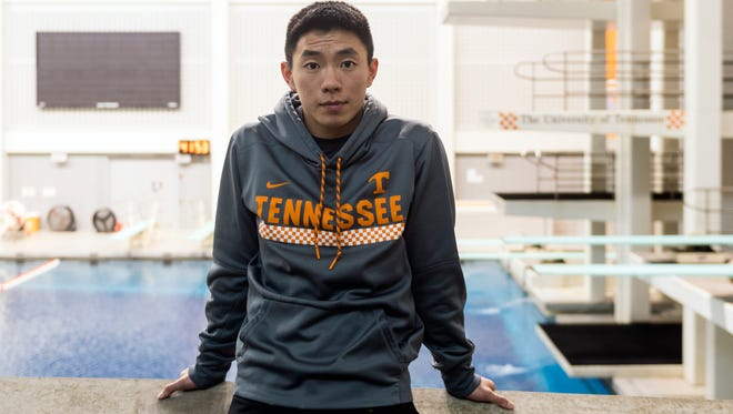 """Tennessee diver Colin Zeng transferred to Tennessee from Ohio State, where he won an NCAA title on the platform as a redshirt freshman in 2016 and was third on the platform in 2017. """"I came to Tennessee because there's such a strong support system,"""" Zeng said."""