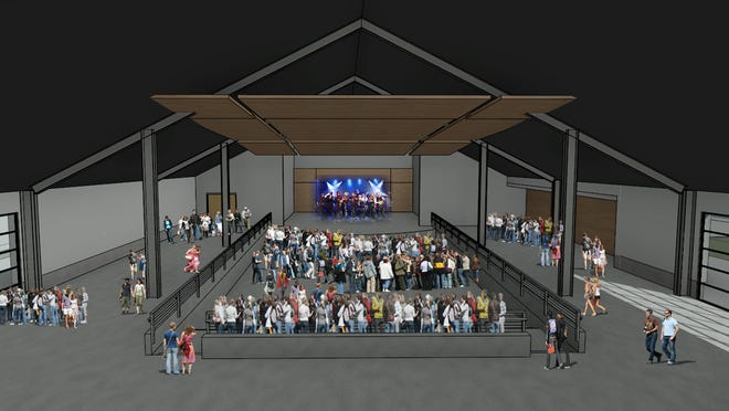 The proposed Timber Mill Theater would seat 750 people and be part of the RiverHeath development along the Fox River in Appleton.