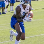 MTSU football held its first practice of fall camp on Thursday at its practice field in Murfreesboro.