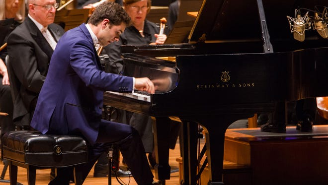 Oradell resident and piano prodigy Drew Petersen, 23, performing during the 2017 American Pianists Awards on April 8. He was later named this year's winner.