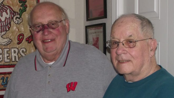 The 16th annual Badger Night will be in honor of longtime chairman Dick Rohrer, left, following his passing Dec. 26. Bob Bergeon, right, has taken over chairman duties.