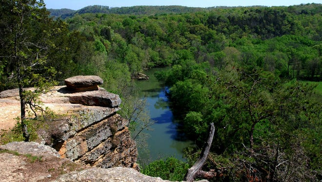 This view from the ridge at Harpeth River State Park is one of Ms. Cheap's favorite spots in Middle Tennesssee.