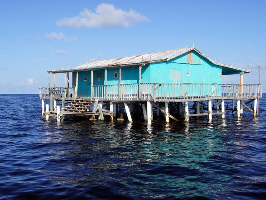 Originally constructed as wooden fishing camps elevated