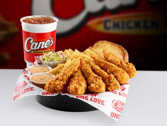 Caniac Combo offered at Raising Cane's Chicken Fingers