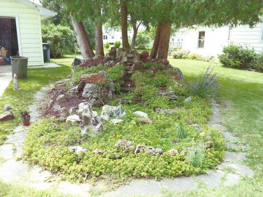 The landscaping as it appeared last year when the Tiedts