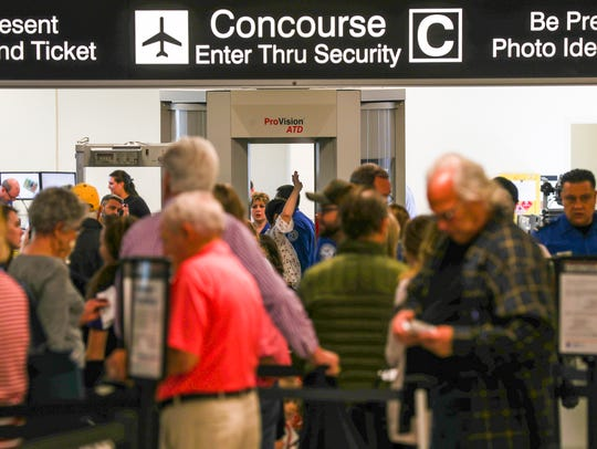 The midday hours at Southwest Florida International Airport tend to be the busiest.