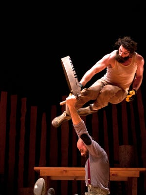 "The Cirque Alfonse ""Timber!"" performance is part of the Fox Cities PAC's 2015-16 Bemis Company Education Series."