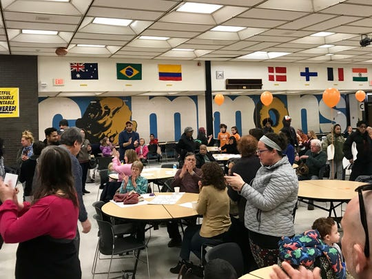 Student organizers held a Breakfast for Bullets March For Our Lives event at Piscataway High School on Saturday.