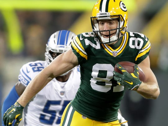Green Bay Packers wide receiver Jordy Nelson dsuring
