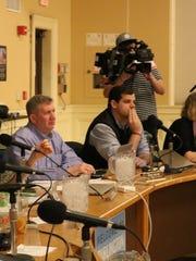 Burlington City Council listens to a presentation by the Burlington International Airport on Monday, March 27, 2017.