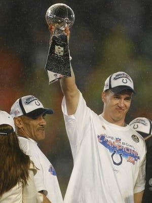 Peyton Manning winning his first Super Bowl.