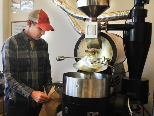 Odd Ducks Coffee, owner, Ted Klopf operates the store's