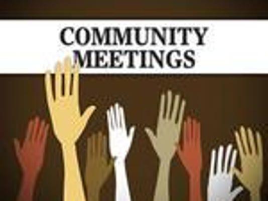 Community meetings