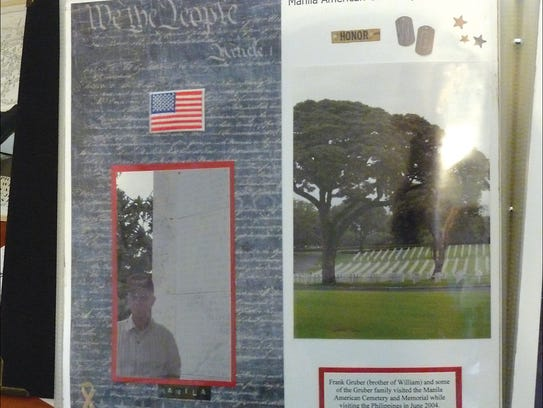 A scrapbook showing the life of William Gruber.