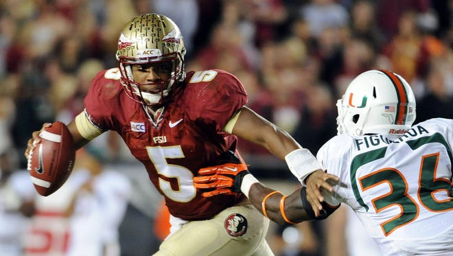 Florida State  and quarterback Jameis Winston moved to No. 2 in this week's BCS standings after routing Miami on Saturday.