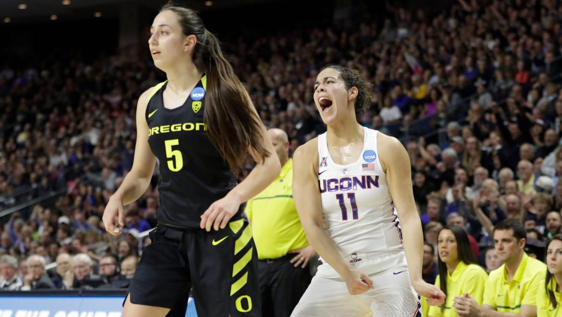 Connecticut routs Oregon to advance to its 10th ...