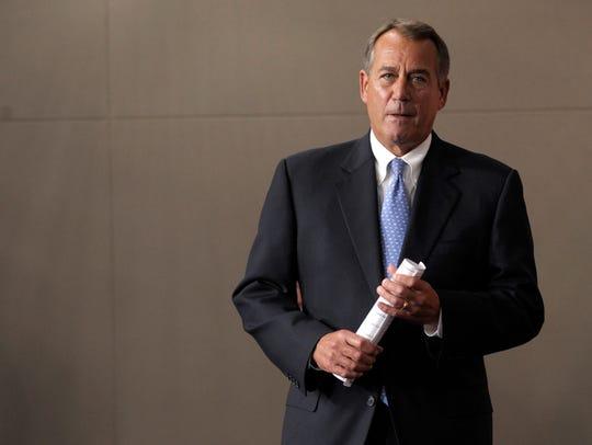 Former House Speaker John Boehner.