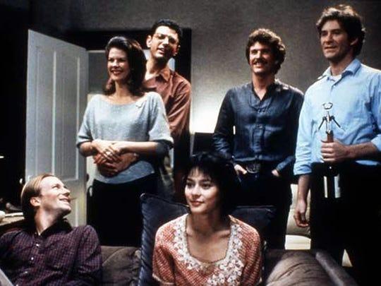 "A scene from the 1983 classic ""The Big Chill.""  From left: William Hurt, JoBeth Williams, Jeff Goldblum, Meg Tilly, Tom Berenger, Kevin Kline."