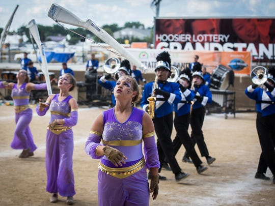 Centerville competes during Band Day at the Indiana