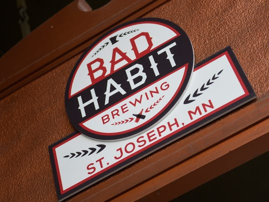 The sign for Bad Habit Brewing Company is pictured Thursday, May 24, in St. Joseph.