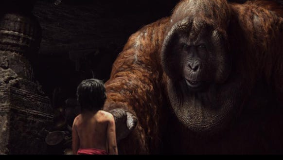 Christopher Walken's King Louie and Mowgli (Neel Sethi)