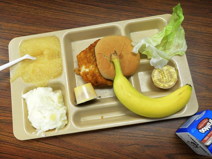 Student 39 S Lunch Sits On A Cafeteria Table At Clyde