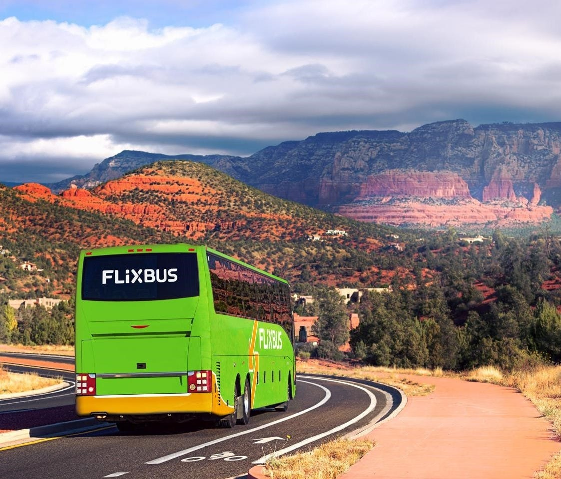 FlixBus, a European bus line, hopes to expand to many cities around the USA.