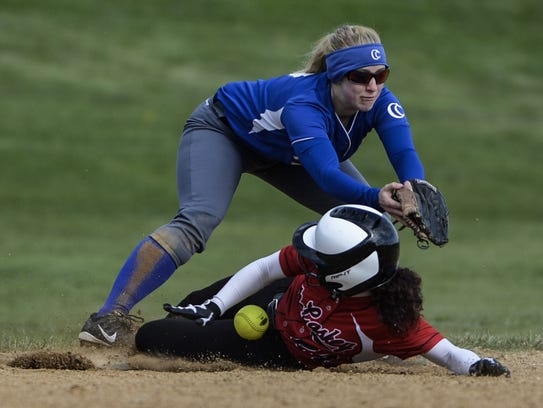 Third baseman Anna DeBellis is one of the Cedar Crest