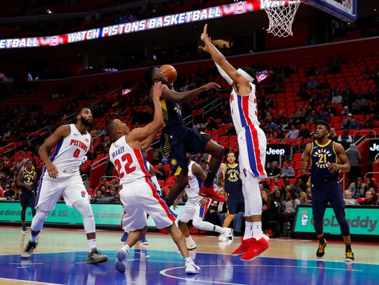 Indiana Pacers guard Victor Oladipo (4) drives to the