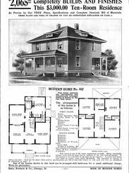 An ad for a catalog home. The Hamilton is similar model