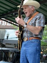 Bob Wood performs with the Grand Ole' Uproar during Square Fest  & Antique Car Show in Downtown Gallatin on Saturday April 29.