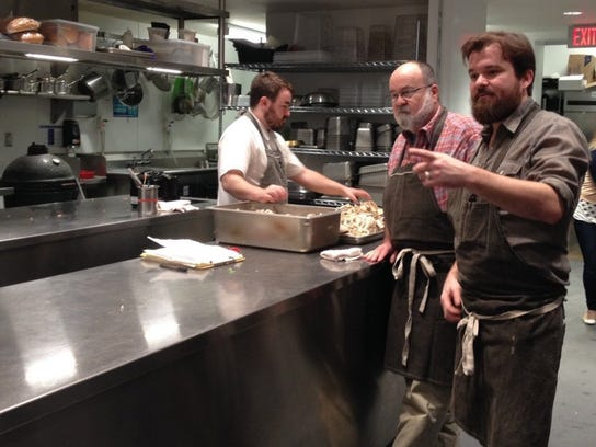 San Angeloan Gardner Wiseheart with his son, Chef Andrew Wiseheart at the Gardner Restaurant in Austin, which closed in March 2016. Chef Wiseheart and his business partner then opened Chicon in the same month.