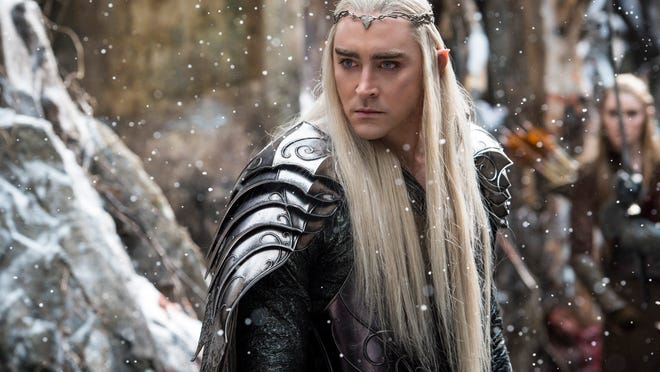"""In this image released by Warner Bros. Pictures, Lee Pace appears in a scene from """"The Hobbit The Battle of the Five Armies."""" (AP Photo/Warner Bros. Pictures, Mark Pokorny)"""