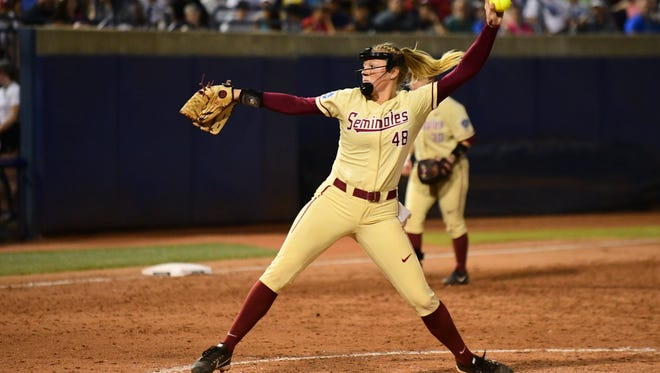 Redshirt junior pitcher Meghan King lead Florida State throughout much of the Women's College World Series.