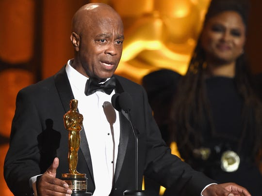 Writer/Director Charles Burnett onstage at the Governors