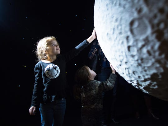 Children can get a closer look a the moon's surface in the new ECHO exhibit.