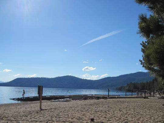 Michelle Filippini submitted this photo taken on April 22, 2012, at Incline Beach, which she said was an unusually warm day at Lake Tahoe.